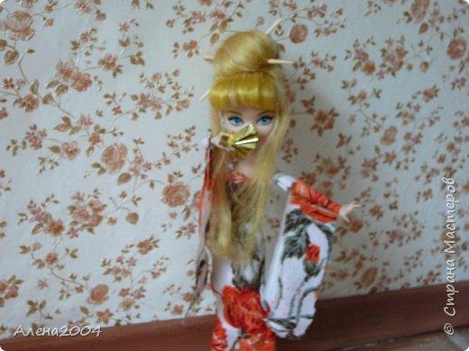 Всем привет!!! Сегодня я сдаю работу на конкурс *Япония* . Я сшила  кимоно для Блонди. фото 1