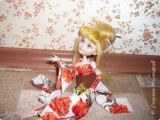 Всем привет!!! Сегодня я сдаю работу на конкурс *Япония* . Я сшила  кимоно для Блонди. фото 3