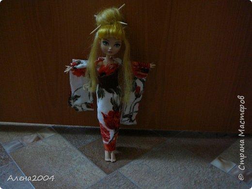 Всем привет!!! Сегодня я сдаю работу на конкурс *Япония* . Я сшила  кимоно для Блонди. фото 5