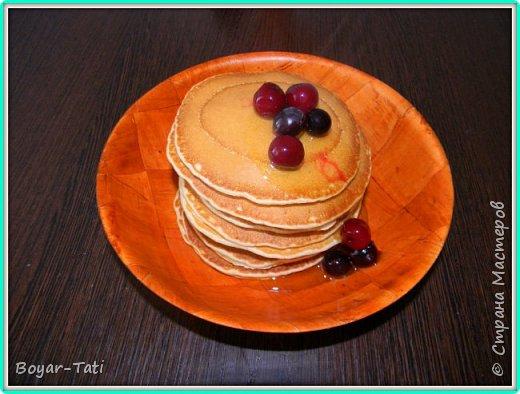 Хочу поделиться с Вами своим рецептом вкусных и ароматных панкейков! Моя семья их очень любит,а готовить их очень просто и быстро! фото 8