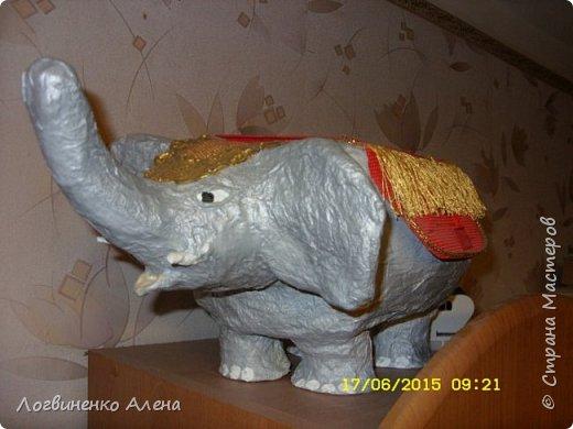 По МК увиденному в сети (автора не помню к сожалению) слон -шкатулка фото 1