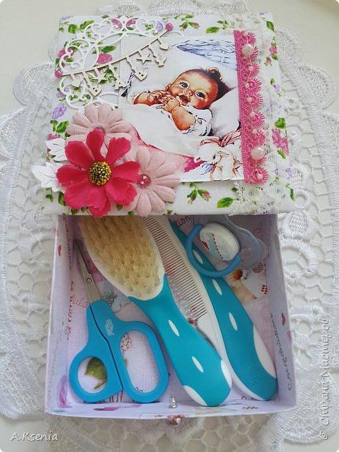 Вот такая папка-открыточка была сделана на заказ на рождение девочки. фото 7