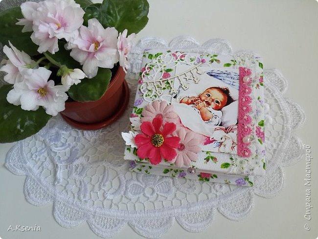 Вот такая папка-открыточка была сделана на заказ на рождение девочки. фото 8