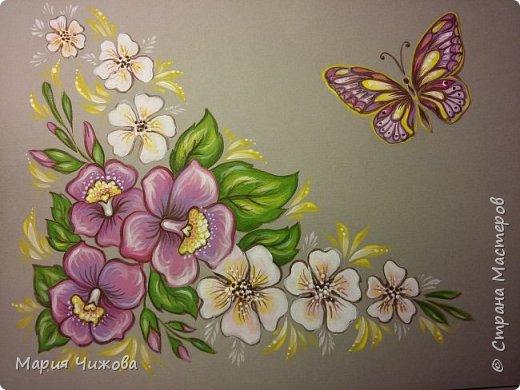 Фрагмент росписи: малышка Ева попросила пчелку))) фото 13