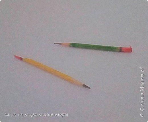 Здравствуй СМ. Хотела показать, как делаю карандаши для кукол. фото 1
