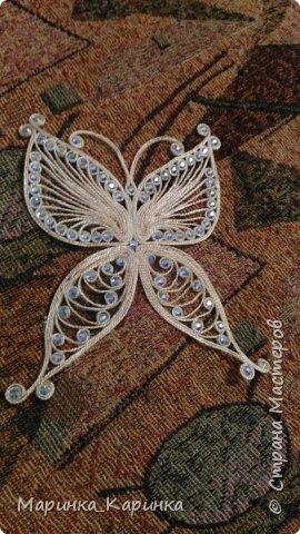 Заколка в бабочка. фото 1