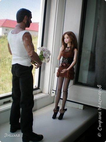 Здравствуйте всем! Итак, начинаем. Будет много фото, так как давно не фотографировала кукол, а тут выпало время и я отвела душу. Часть 1. Платье Китти.  фото 19