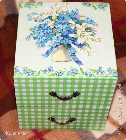 """Вчера вместе  с подарочком на день рождение я получила комодик по игре """"Желаю получить..."""" от katenok270676 http://stranamasterov.ru/user/172636 !Давайте вместе полюбуемся на это произведение искусства! фото 2"""