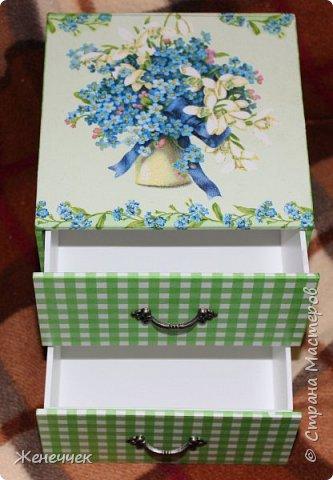 """Вчера вместе  с подарочком на день рождение я получила комодик по игре """"Желаю получить..."""" от katenok270676 http://stranamasterov.ru/user/172636 !Давайте вместе полюбуемся на это произведение искусства! фото 1"""