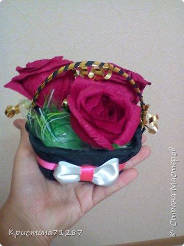 корзинка с розами фото 2