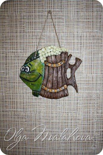 Всем Доброго времени суток. Спешу поделиться, рыбкой. Подсмотрела у m a r i n a. Вот ссылка: http://stranamasterov.ru/node/600847. Очень захотелось такую же. Сповторюшнячила.  фото 2