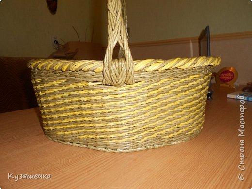 Вот такая простенькая( по просьбе подруги) родилась корзинка, в основном для освещения куличей фото 2