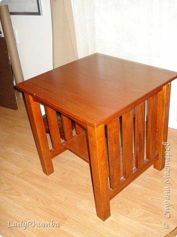Всем привет!   Давным-давно я задекорировала два вот таких столика.  фото 2