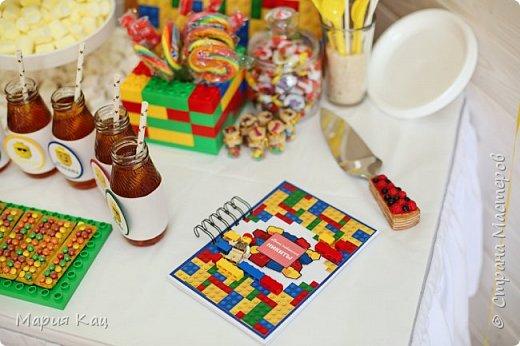 Поделюсь деталями сладкого стола на детском празднике, в стиле Lego. фото 3