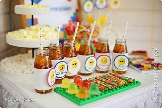 Поделюсь деталями сладкого стола на детском празднике, в стиле Lego. фото 1