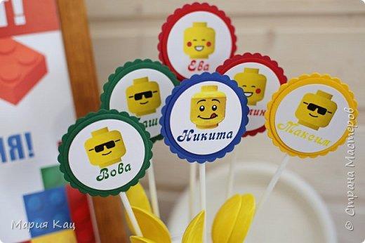 Поделюсь деталями сладкого стола на детском празднике, в стиле Lego. фото 2