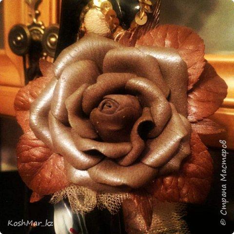 Роза - имитация под кожу на универсальном креплении (мой дебют :-)) фото 1
