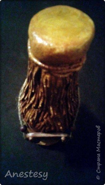 салфетки смоченные в обойном клею  произвольно намотала на бутыль, фото 6