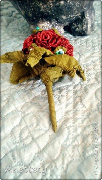 Слоник с букетом.) фото 4