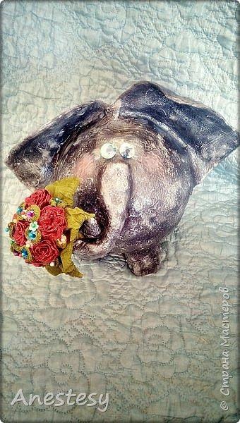 Слоник с букетом.) фото 10
