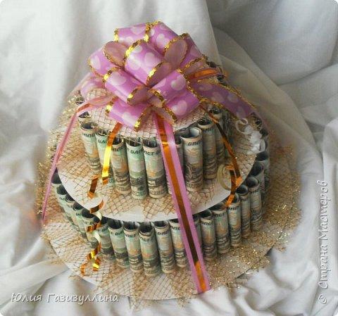 Торт денежный фото 1
