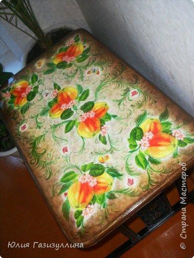 реставрация старенького журнального стола.  фото 2