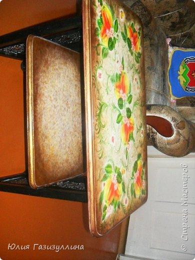 реставрация старенького журнального стола.  фото 3