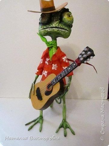 Заказали мальчику на день Рождения! (повтор работы) Гитара и шляпа -картон! фото 2
