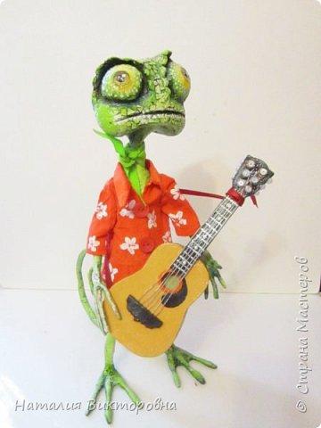 Заказали мальчику на день Рождения! (повтор работы) Гитара и шляпа -картон! фото 7