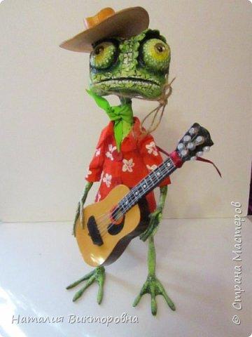 Заказали мальчику на день Рождения! (повтор работы) Гитара и шляпа -картон! фото 8