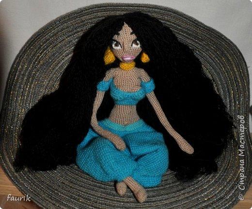 Кукла Жасмин, вязала в подарок подруге на день рожденья. фото 2