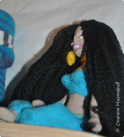 Кукла Жасмин, вязала в подарок подруге на день рожденья. фото 6