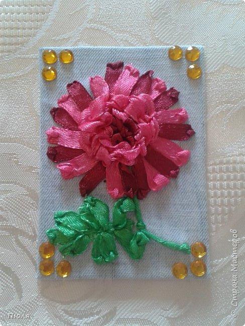 """Привет всем, вот такие карточки АТС """"Цветы"""" получились у меня))) Осваивала новую для себя технику - вышивание лентами, надеюсь цветочки получились узнаваемы))))Выбирают только участники обменника http://stranamasterov.ru/node/1040245?c=favorite.  Это все вместе. фото 8"""