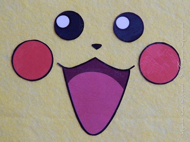 Приветствую всех жителей Страны Мастеров! Представляю Вашему вниманию блокнот с покемоном Пикачу, сделанный своими руками. Внутри блокнота разноцветные страницы, а обложка сделана из фетра. фото 1