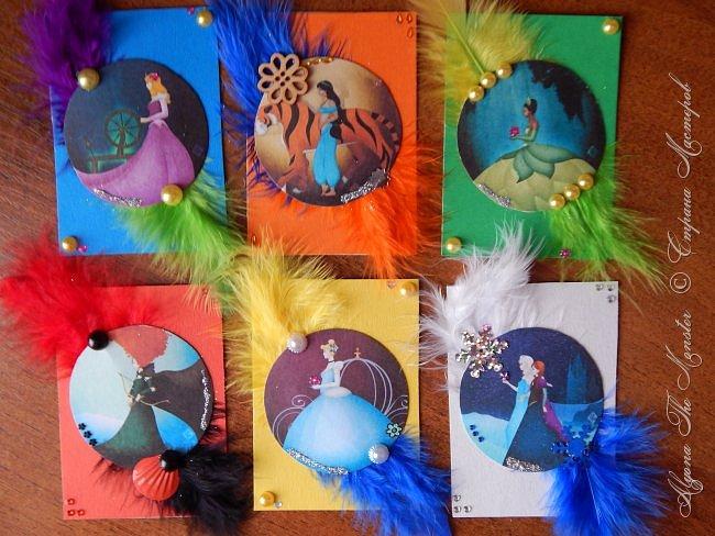 Приветствую жителей Страны Мастеров! Представляю Вашему вниманию серию карточек с принцессами Диснея. фото 1