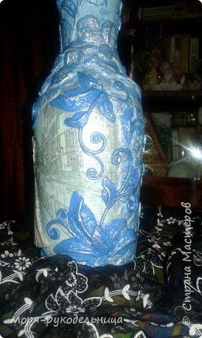 Имея уже первый опыт декорирования бутылки, решила попробовать сделать что-то совсем другое. И вот моя дама отправилась на прогулку... фото 14