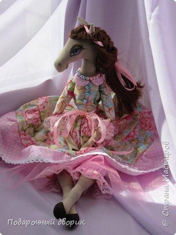 Текстильная лошадка-Изабель. Очень нежная девочка.Ростом 50 см. фото 1
