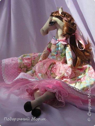 Текстильная лошадка-Изабель. Очень нежная девочка.Ростом 50 см. фото 4