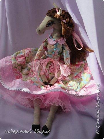 Текстильная лошадка-Изабель. Очень нежная девочка.Ростом 50 см. фото 6