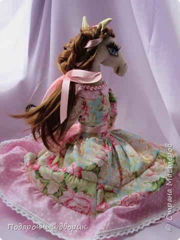 Текстильная лошадка-Изабель. Очень нежная девочка.Ростом 50 см. фото 7