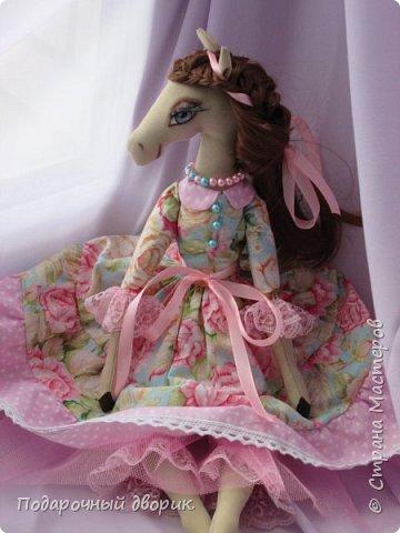 Текстильная лошадка-Изабель. Очень нежная девочка.Ростом 50 см. фото 8