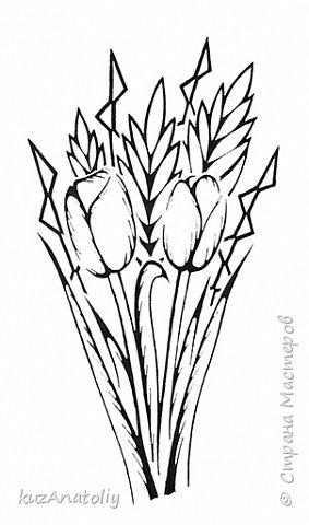 Как нарисовать тюльпаны - Тюльпаны в стиле зентангл