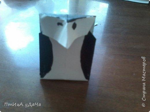 Я очень люблю придумывать оригами! Сегодня я расскажу вам как сделать вот такого пингвинёнка. фото 1