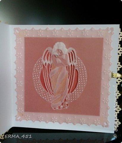 Внешняя сторона открытки с  элементами пергамано фото 3