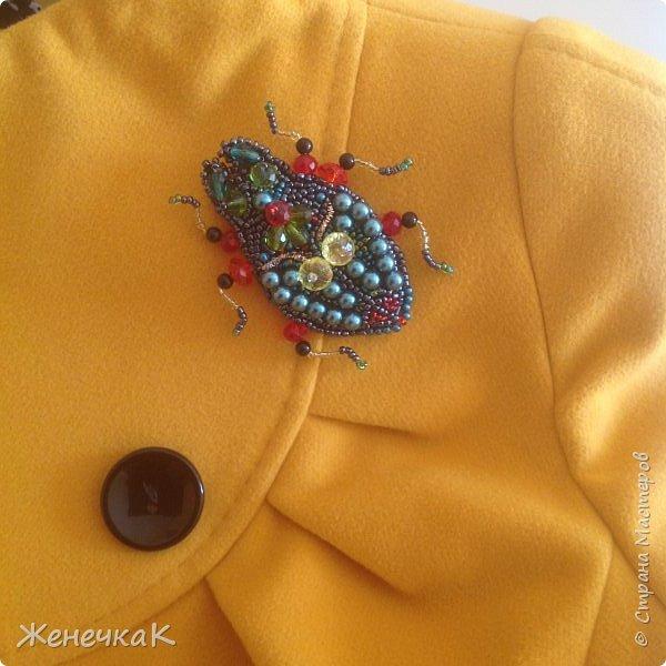 Фантазийный жук-брошь для гламурной красавицы.))))) фото 5