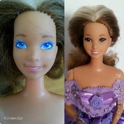 Эта куколка сделана на свадьбу в сиренево-коричневых тонах) фото 3