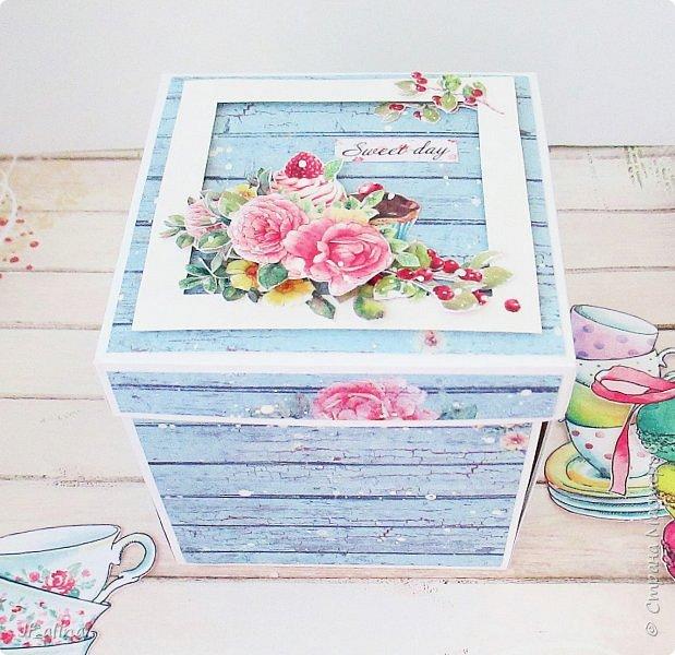 Добрый вечер! Хочу показать вам magic box, сделанный по МК Алены Летавиной http://posidelkizascrapom.blogspot.ru/2016/06/5.html фото 3