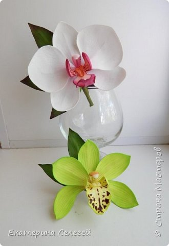 орхидея цимбидиум и фаленопсис из фоамирана фото 6