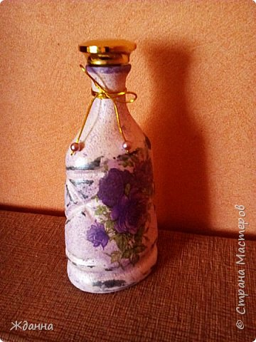 Ваза из бутылки с широким горлышком.  фото 3