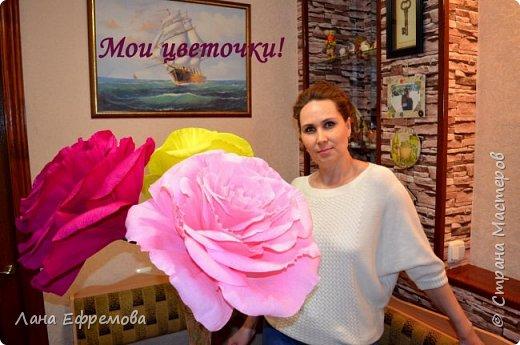 Большие цветы из бумаги фото 1
